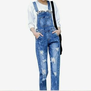 🆕🔥 Great fall outfit🔥Dou Bao Yu jeans overall